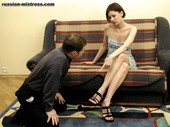 Dominant Female and Submissive Slaves Pics