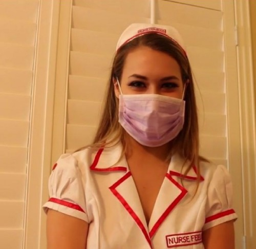 Kimber Lee - Relieving my patient with a latex glove handjob - KimberLeeLive (FullHD)