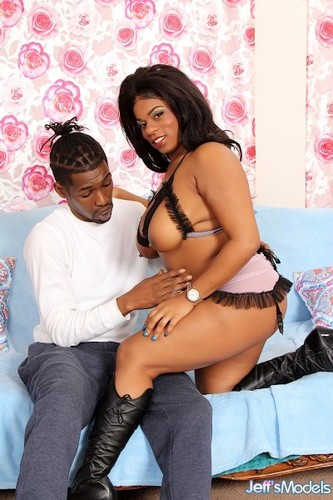 Mirage - Full Figured Ebony Filled with Cock - JeffsModels (FullHD)