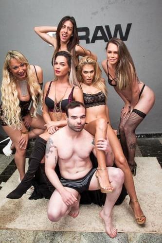 Walkiria Drumond, Bruna Angel, Bruninha Almeida, Gabriela Rodrigues, Geane Peron - All Holes Filled With Hard TS Cock - TSRaw (HD)