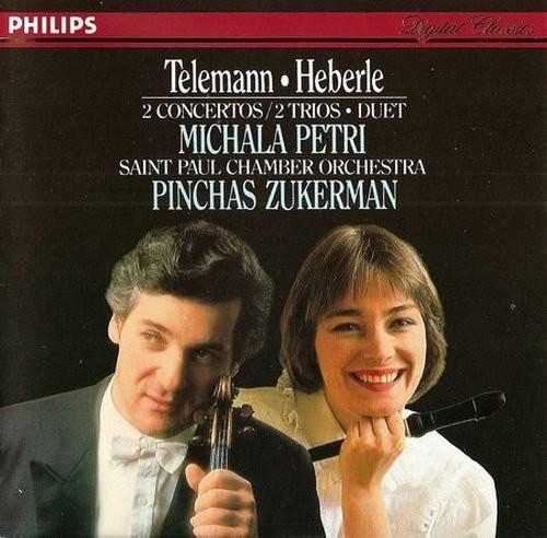 Michala Petri, Pinchas Zukerman - Telemann, Heberle: 2 Concertos, 2 Trios, Duet (1986)