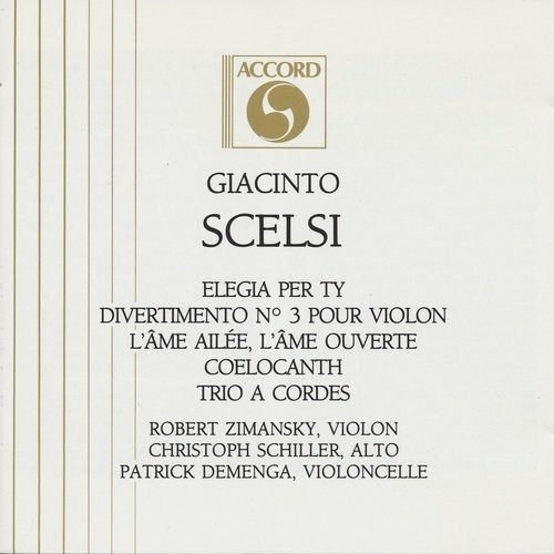 Robert Zimansky, Christoph Schiller, Patrick Demenga - Giacinto Scelsi - Duo, Soli, Trio À Cordes (1...