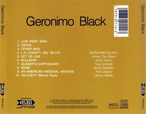 Geronimo Black - Geronimo Black (1972) (Reissue, 1995) CD Rip