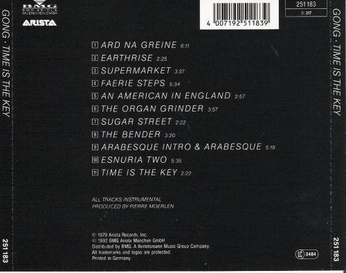 Pierre Moerlen's Gong - Time Is The Key (Reissue) (1979/1992)