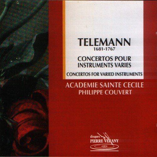 Academie Sainte-Cecile, Philippe Couvert - Telemann: Concertos pour instruments varies (1995) Full Album